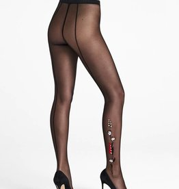WOLFORD Wildflower Embroidery Tights