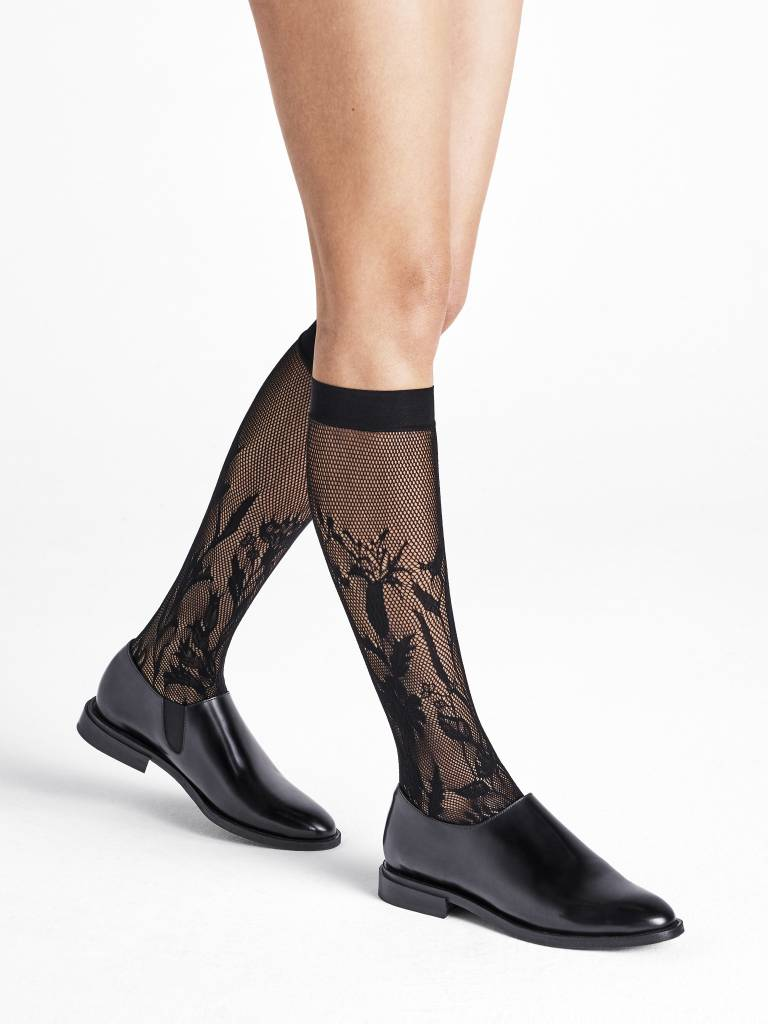 WOLFORD 31565 Wildflower Net Knee-Highs
