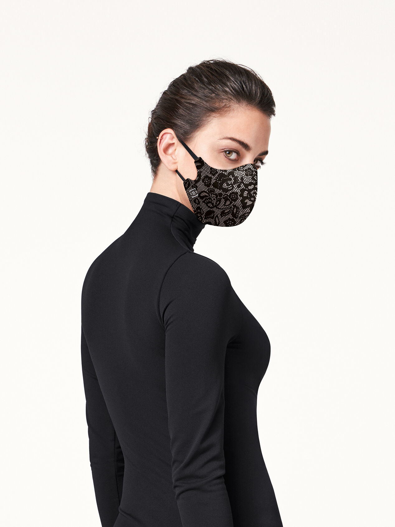 WOLFORD 96233 Wolford Lace Mask 7005-black OS