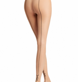 WOLFORD Logo Script Backseam Tights