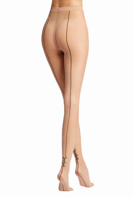 WOLFORD 14844 Logo Script Backseam Tights