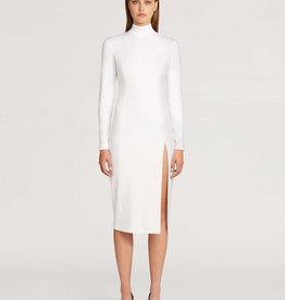WOLFORD Midi Turtleneck Slit Dress