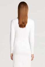 WOLFORD 52865 Midi Turtleneck Slit Dress