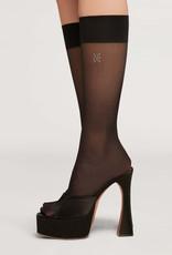 WOLFORD 48057 Long Crystal Logo Socks