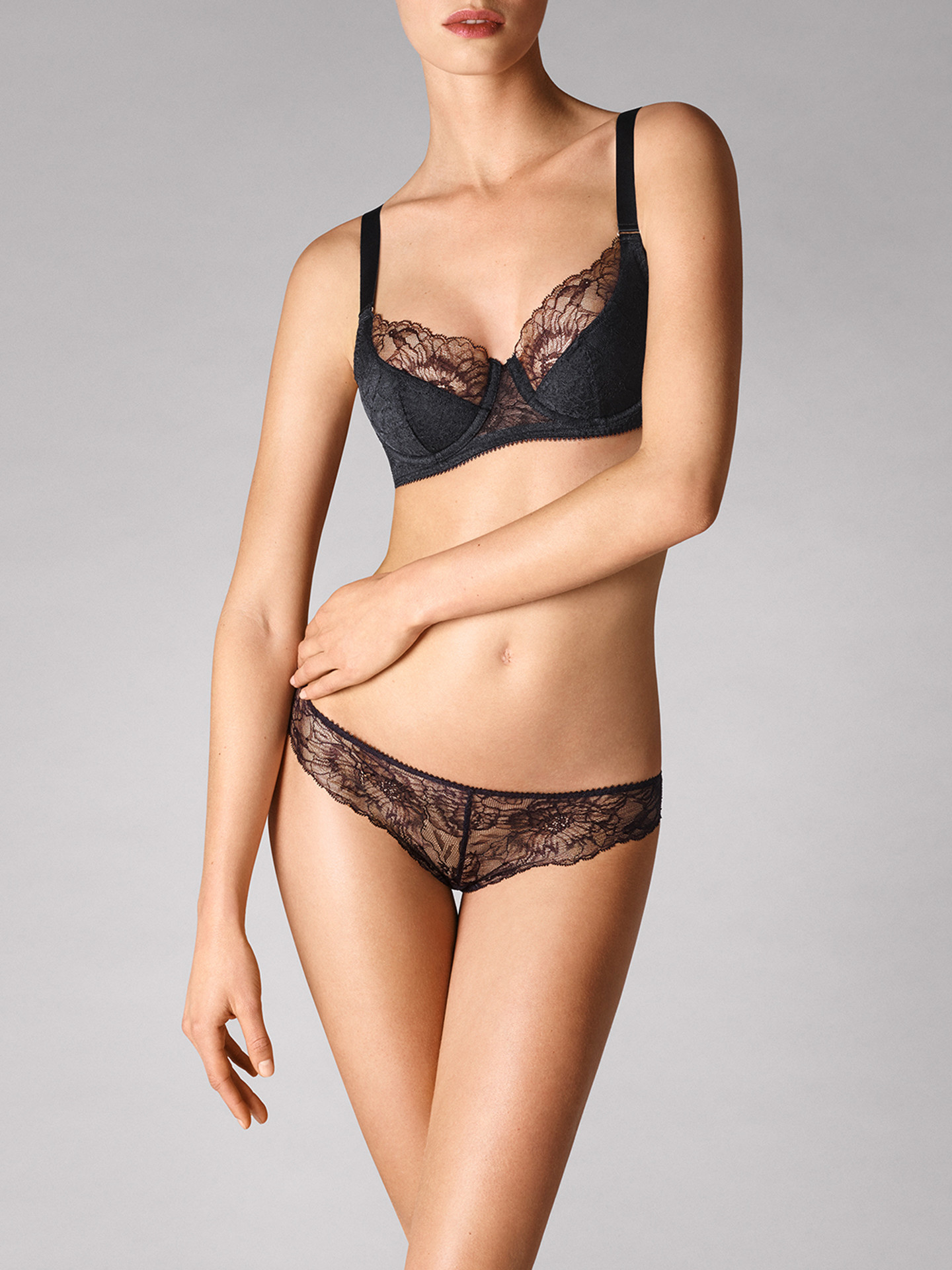 WOLFORD 69745 Stretch Lace up Bra