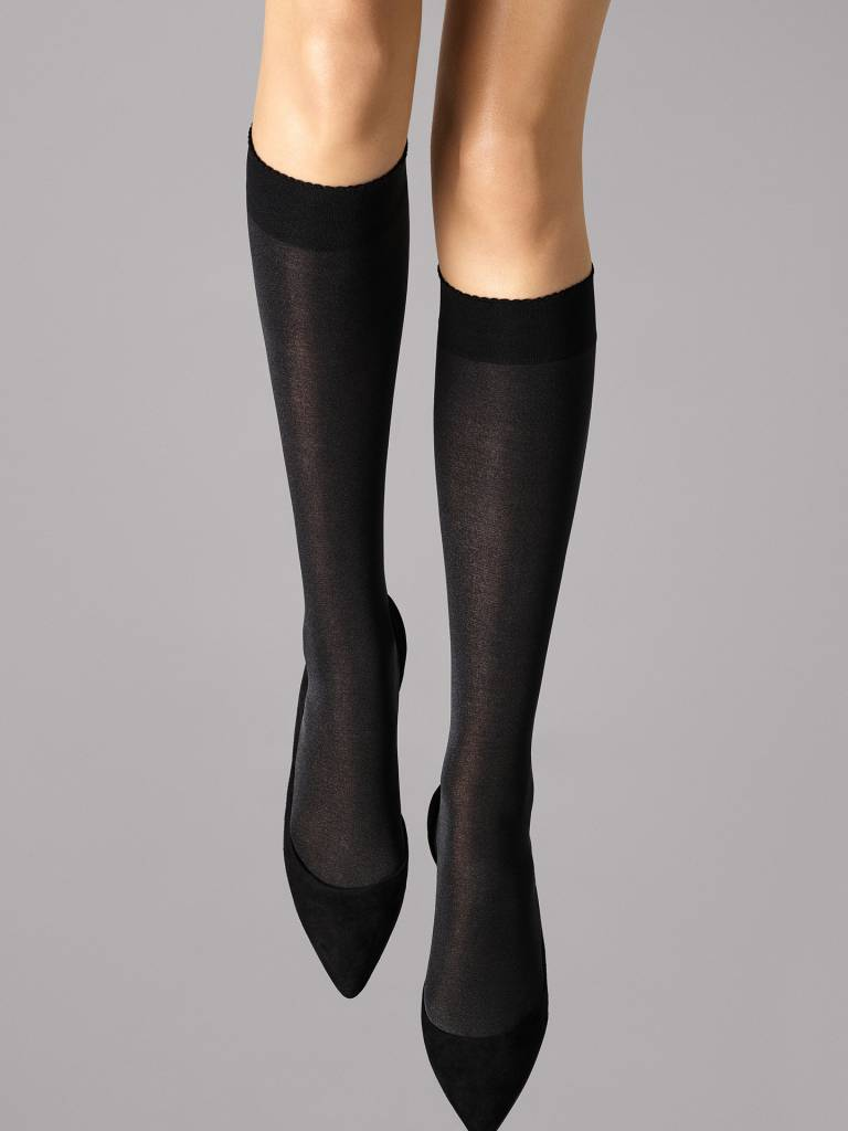 WOLFORD 30923 Velvet de Luxe 50 Knee-Highs