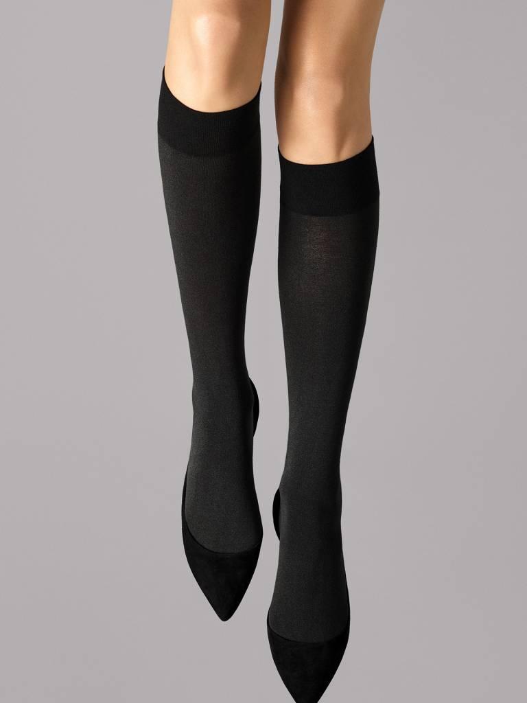 WOLFORD 31060 Cotton Velvet Knee-Highs