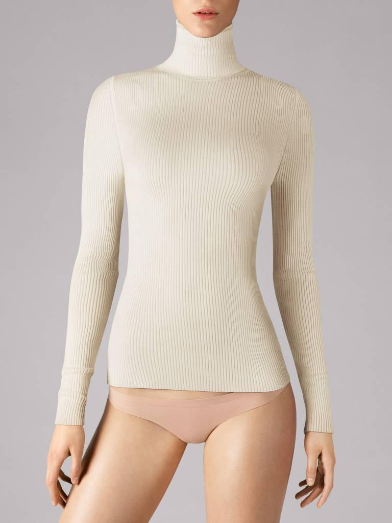 WOLFORD 59316 Merino Fine Rib Pullover