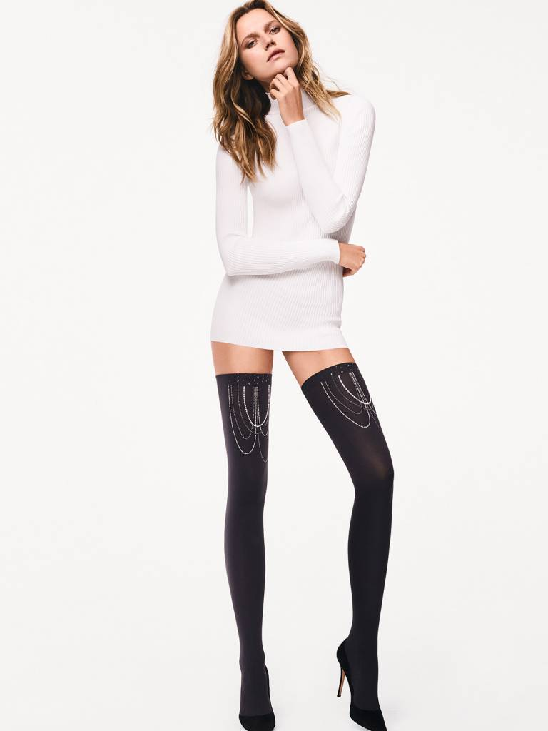 WOLFORD 28116 Jewelled Stay-Up