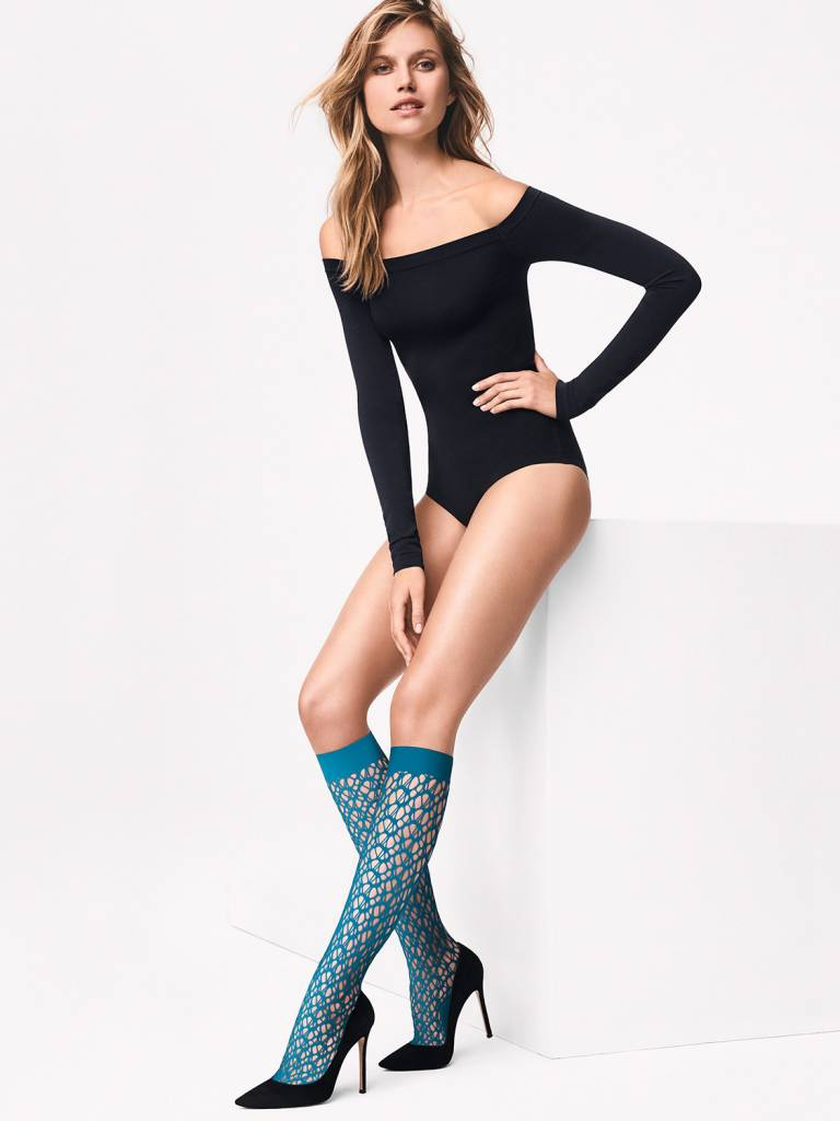 WOLFORD 31560 Net Knee-Highs