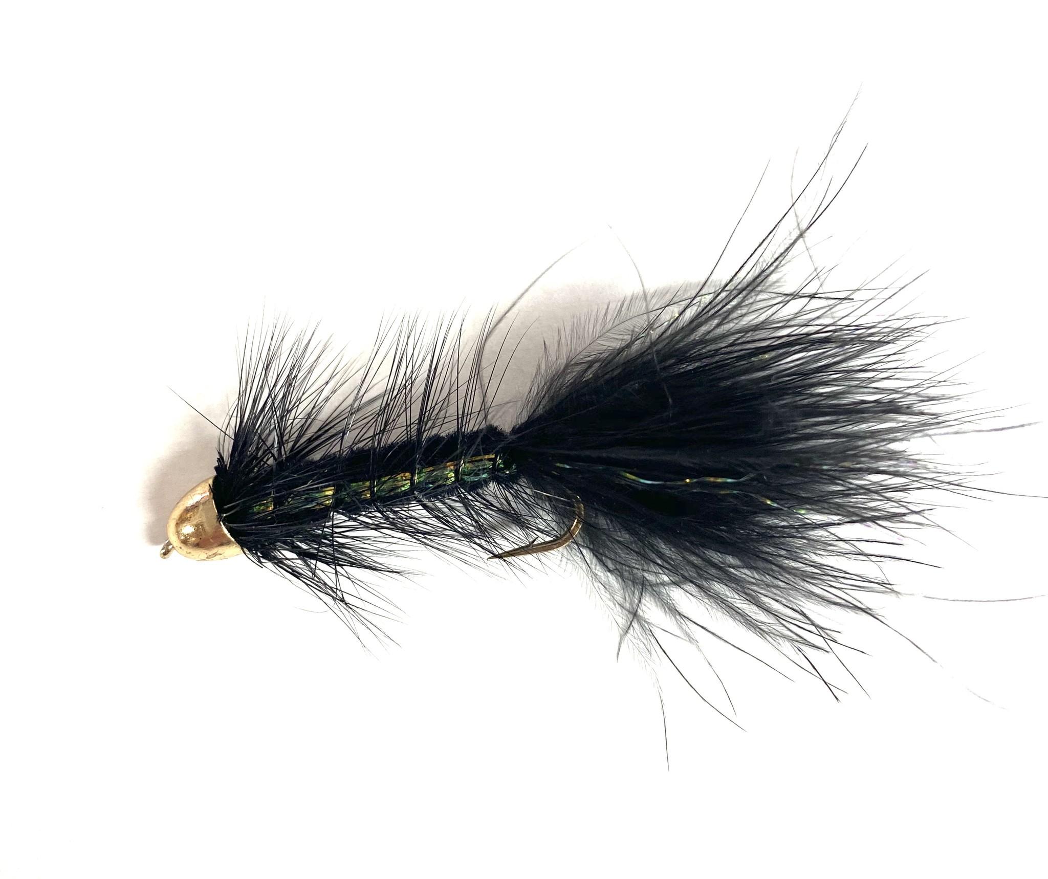 Solitude Fly Company Cone Head Woolly Bugger Black