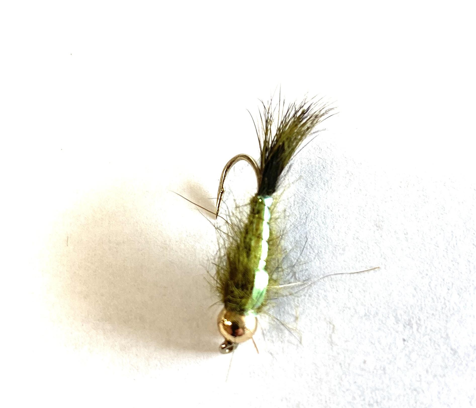Fulling Mill Tungsten Head Olive Hare's Ear Flashback