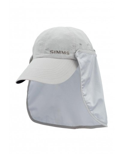 Simms Fishing BUGSTOPPER SUNSHIELD HAT ASH