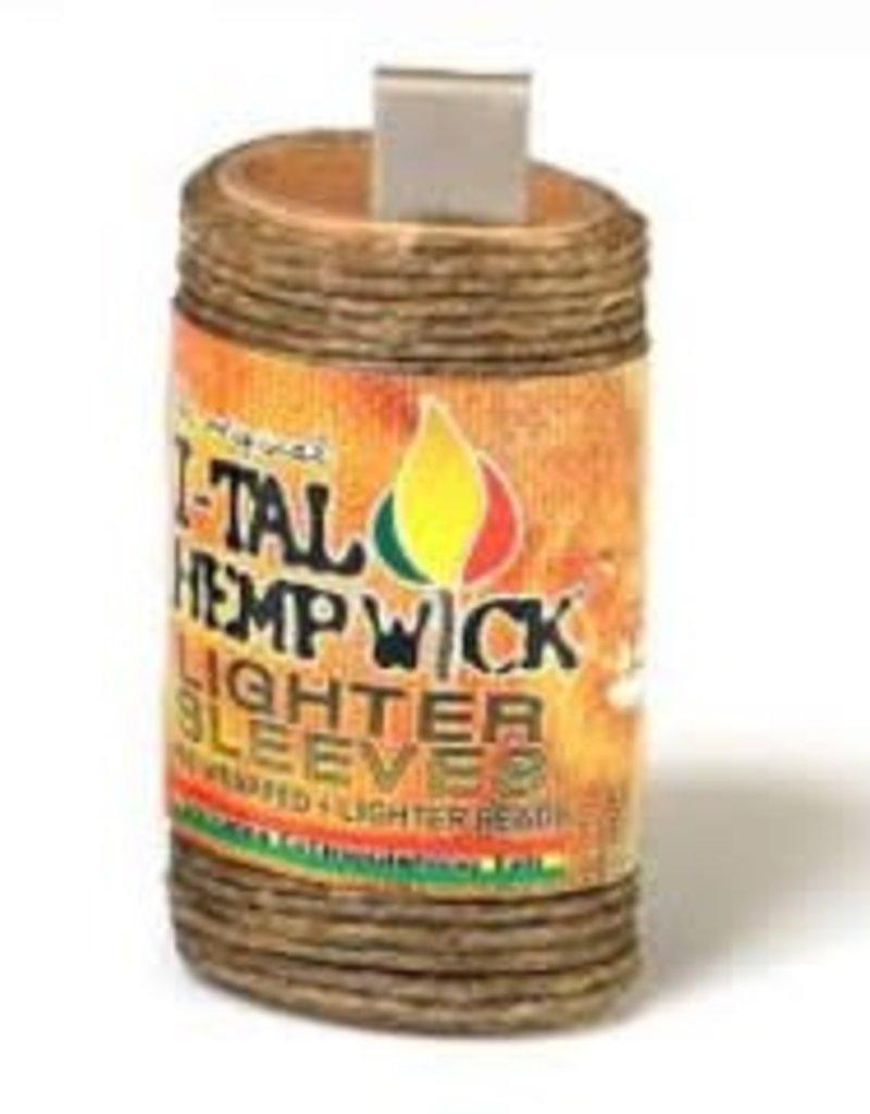 i-Tal Hemp Wick single lighter sleeve