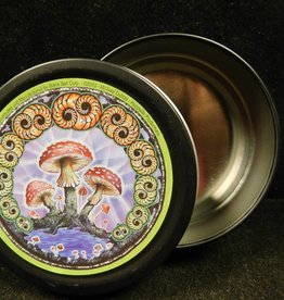 Round Stash Tin - Mushroom