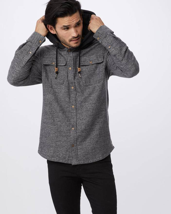 Tentree Arthur Button Up Hoodie Men's