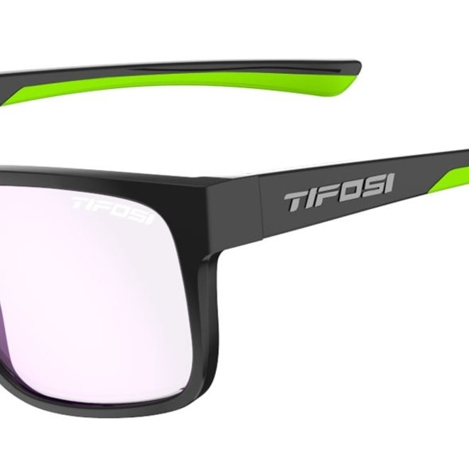 Swick, Satin Black/Neon Polarized Sunglasses