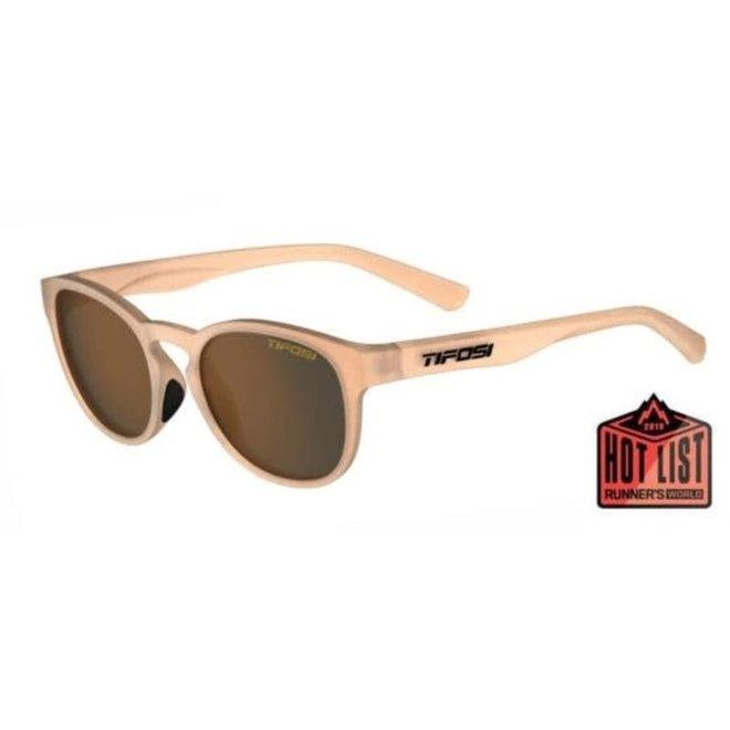 Svago, Satin Crystal Brown Single Lens Sunglasses