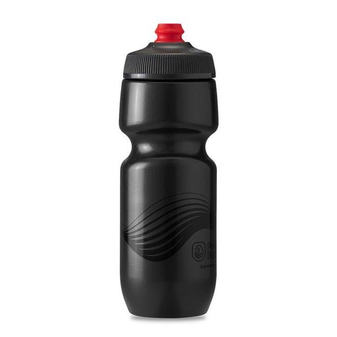 Polar Bottles Breakaway Wave Water Bottle - 24oz, Charcoal/Black