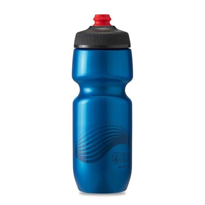 Polar Bottles Breakaway Wave Water Bottle - 20oz, Deep Blue/Charcoal