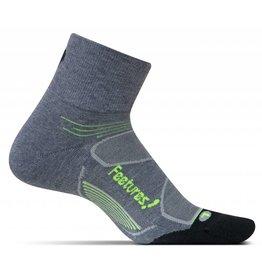 Feetures! Light Cushion Quarter Charcoal S/M
