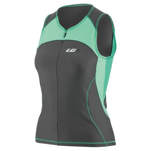 WOMEN COMP SLEEVELESS TRIATHLON TOP SULFUR SPRING L