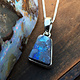 Boulder Opal 15mm Trapezoid Pendant on Chain