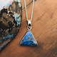 Boulder Opal 15mm Triangular Pendant on Chain