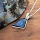 Boulder Opal 17mm Asymmetrical Pendant on Chain