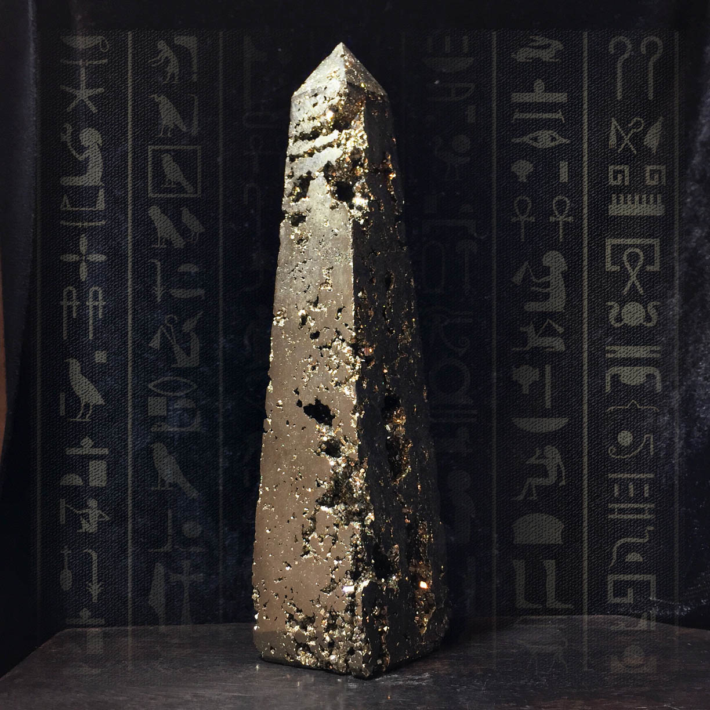 "Iron Pyrite Obelisk 4-5"""