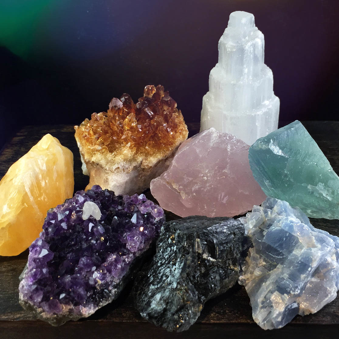 Rough Crystal 8-Piece Assortment