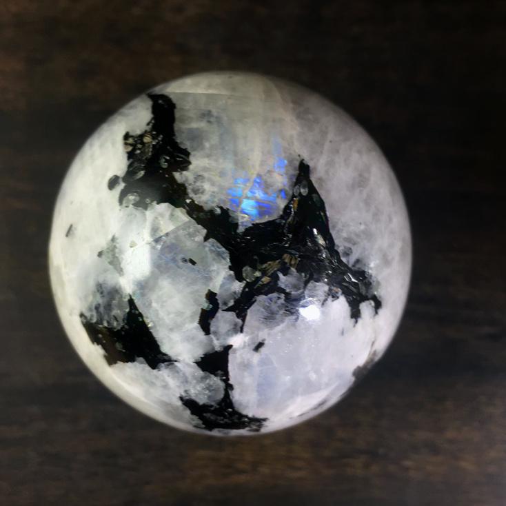 Rainbow Moonstone 55mm Sphere