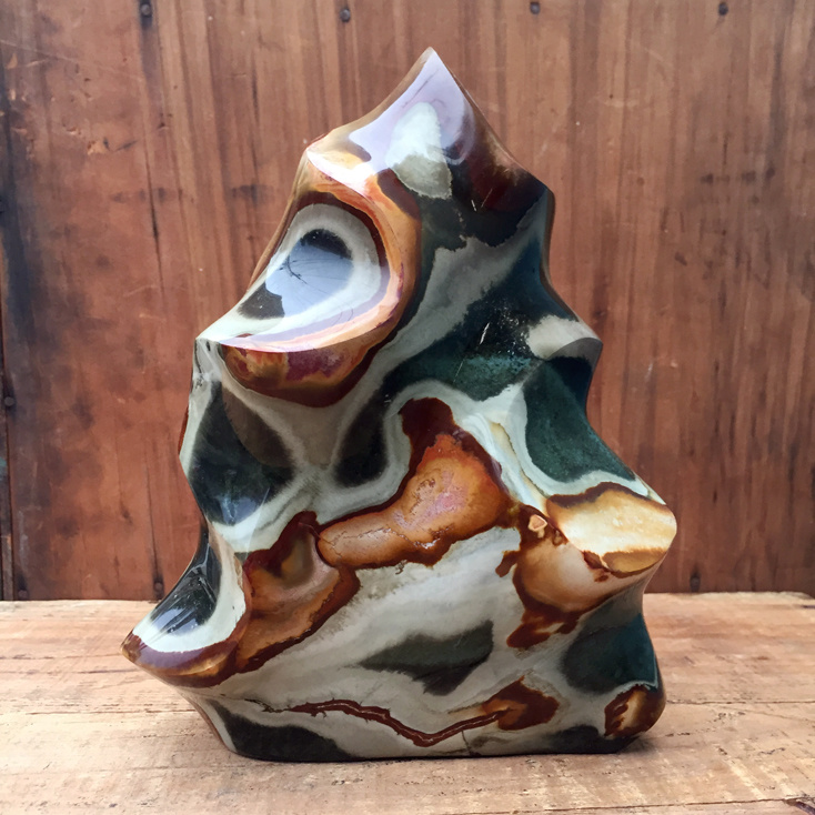 "Polychrome Jasper 7.5""  Polished Flame"