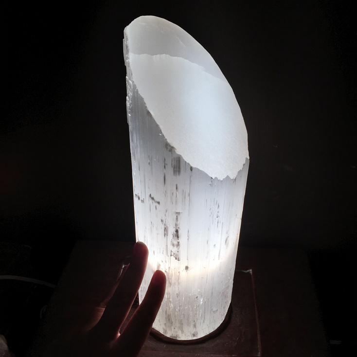 Selenite Slant-Top Lamp 11-12""