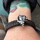 Campo del Cielo Meteorite Braided Leather Bracelet