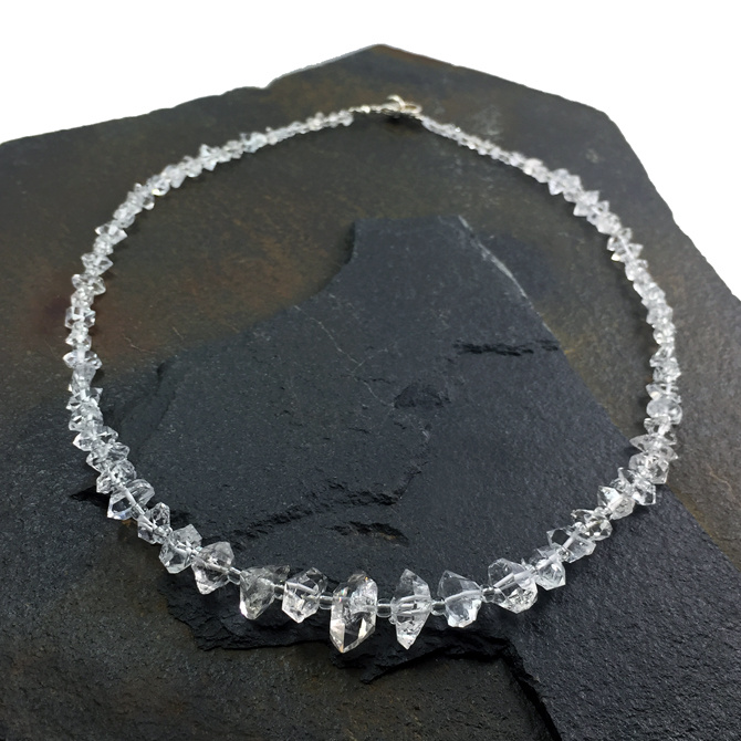 "Herkimer Diamond Crystal 19"" Necklace"