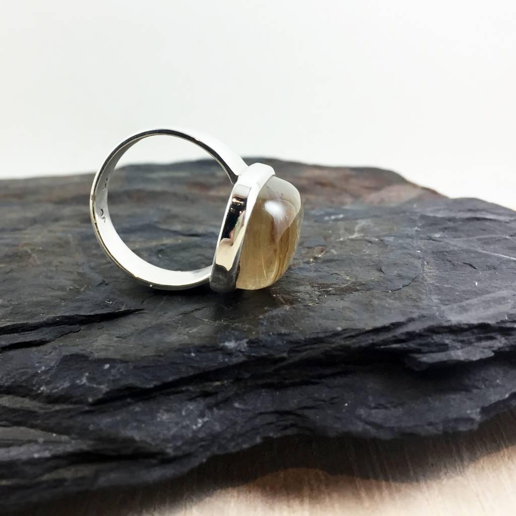 TWS -SOLD- Rutilated Quartz Ring Size 8