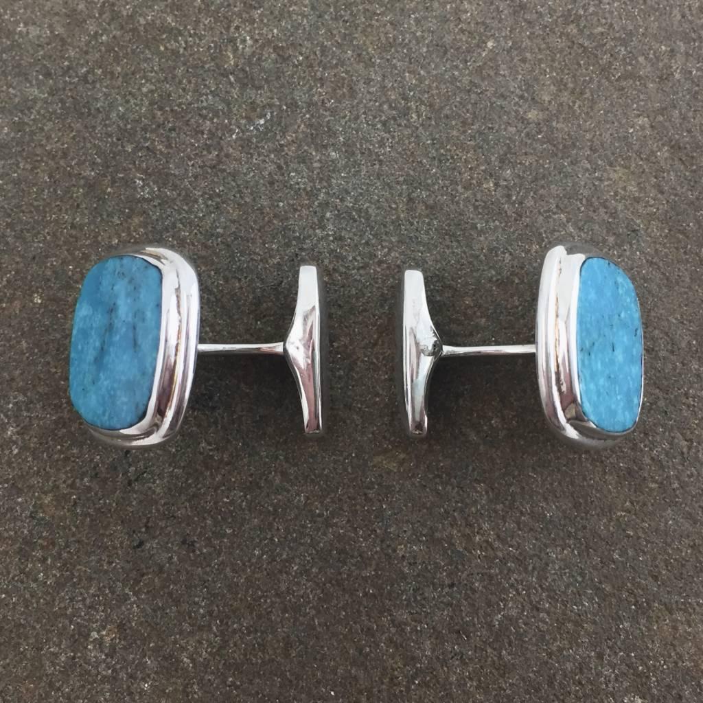 Nacozari Turquoise  Square Cufflinks