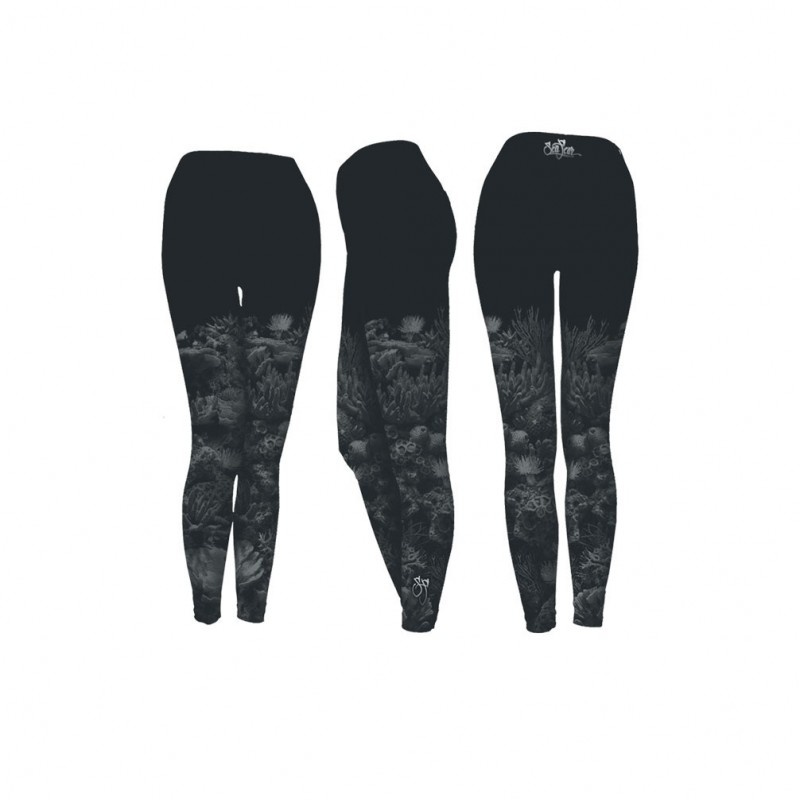 Sea Fear Black Coral Performance Leggings