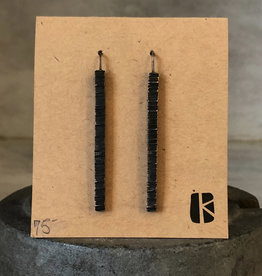 KKB Designs Long Sterling Piling Earrings