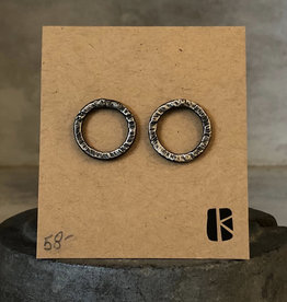 KKB Designs Hammered Circle Post Earrings