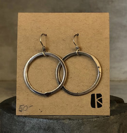 KKB Designs Polished Sterling Hoop Drop Earring