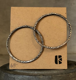KKB Designs Hammered Large Circle Post Earrings