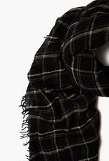 Chan Luu Black Mix Wool Scarf
