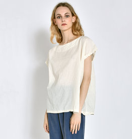 Uzi NYC Cream Tunic Top (O/S)