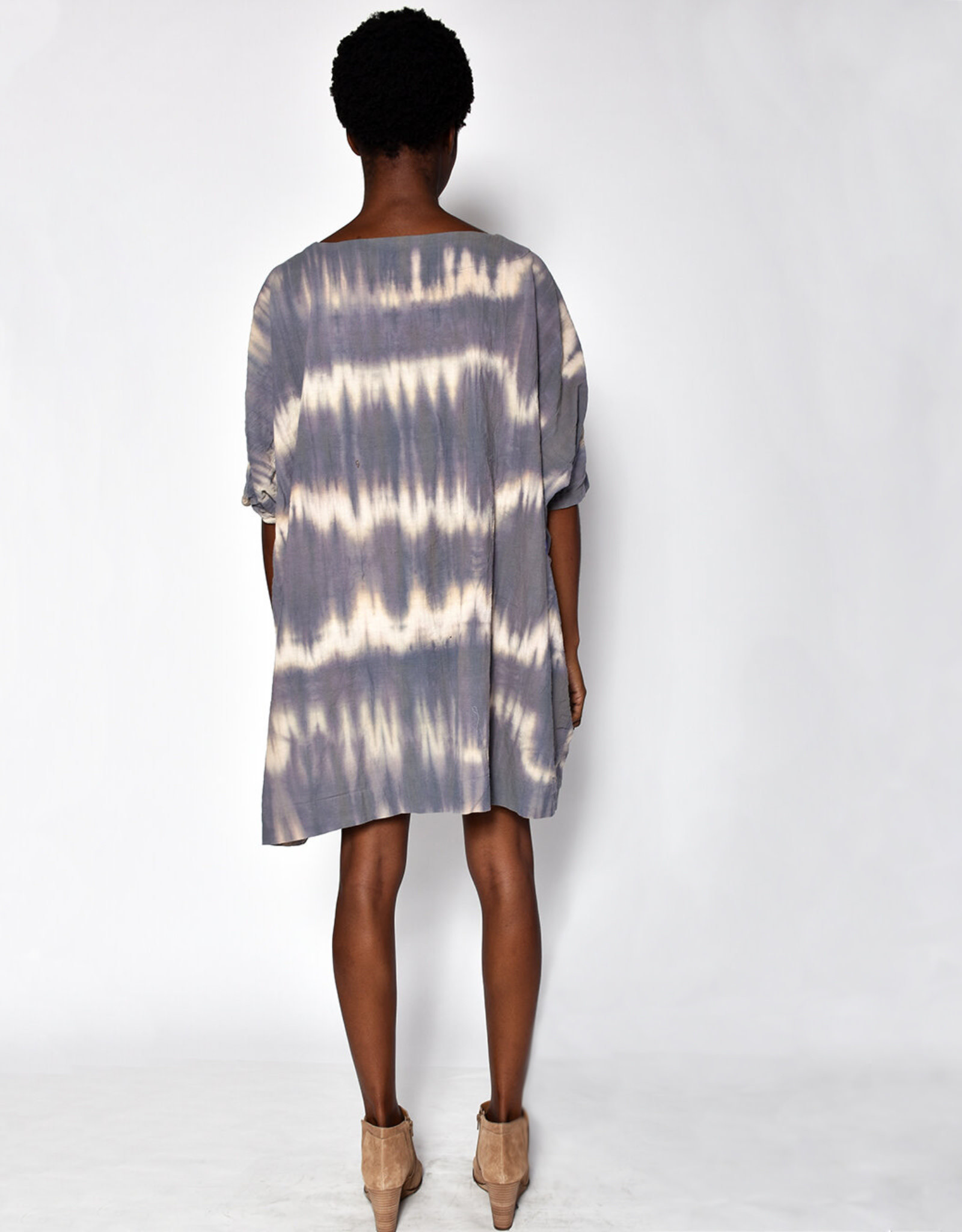 Uzi NYC Desert Dye Coarse Cotton Box Dress (O/S)