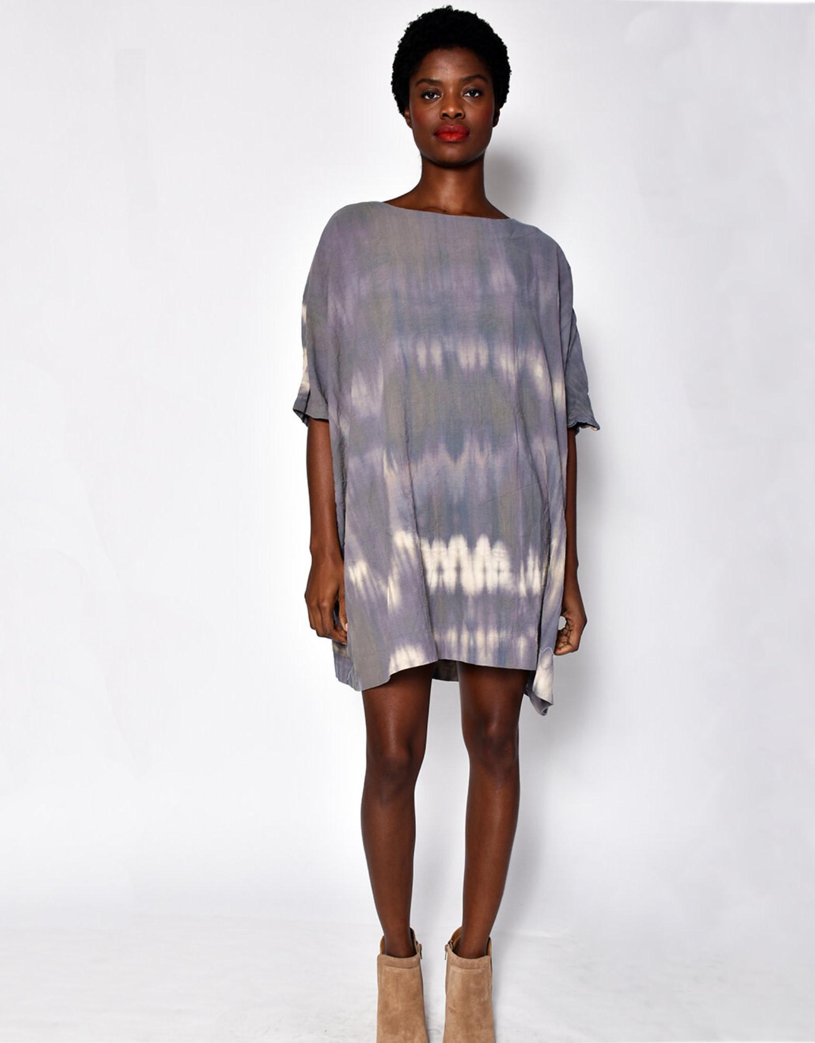 Uzi NYC Desert Dye Coarse Cotton Box Dress (O/S)