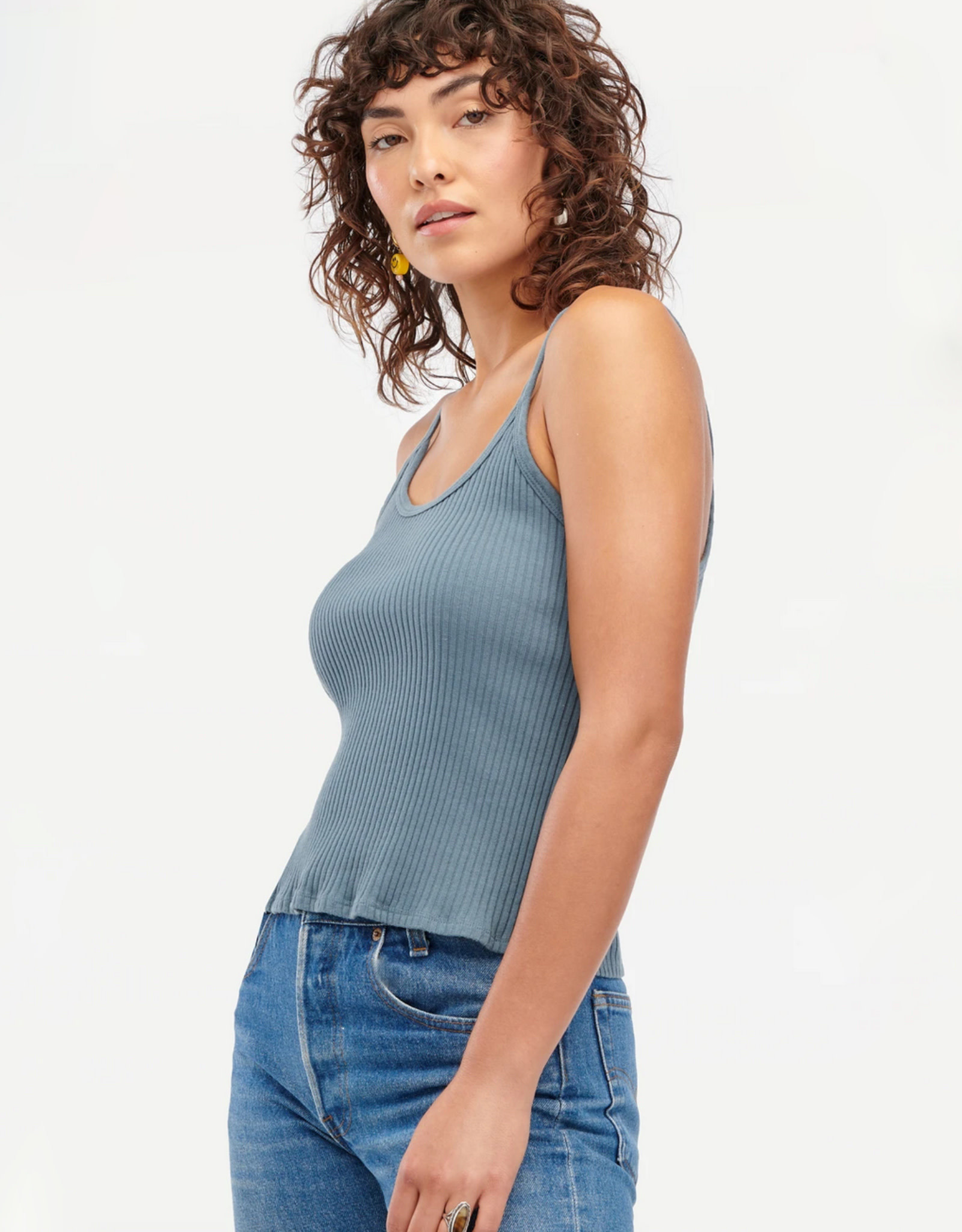 LACAUSA Lana Ribbed Tank Top