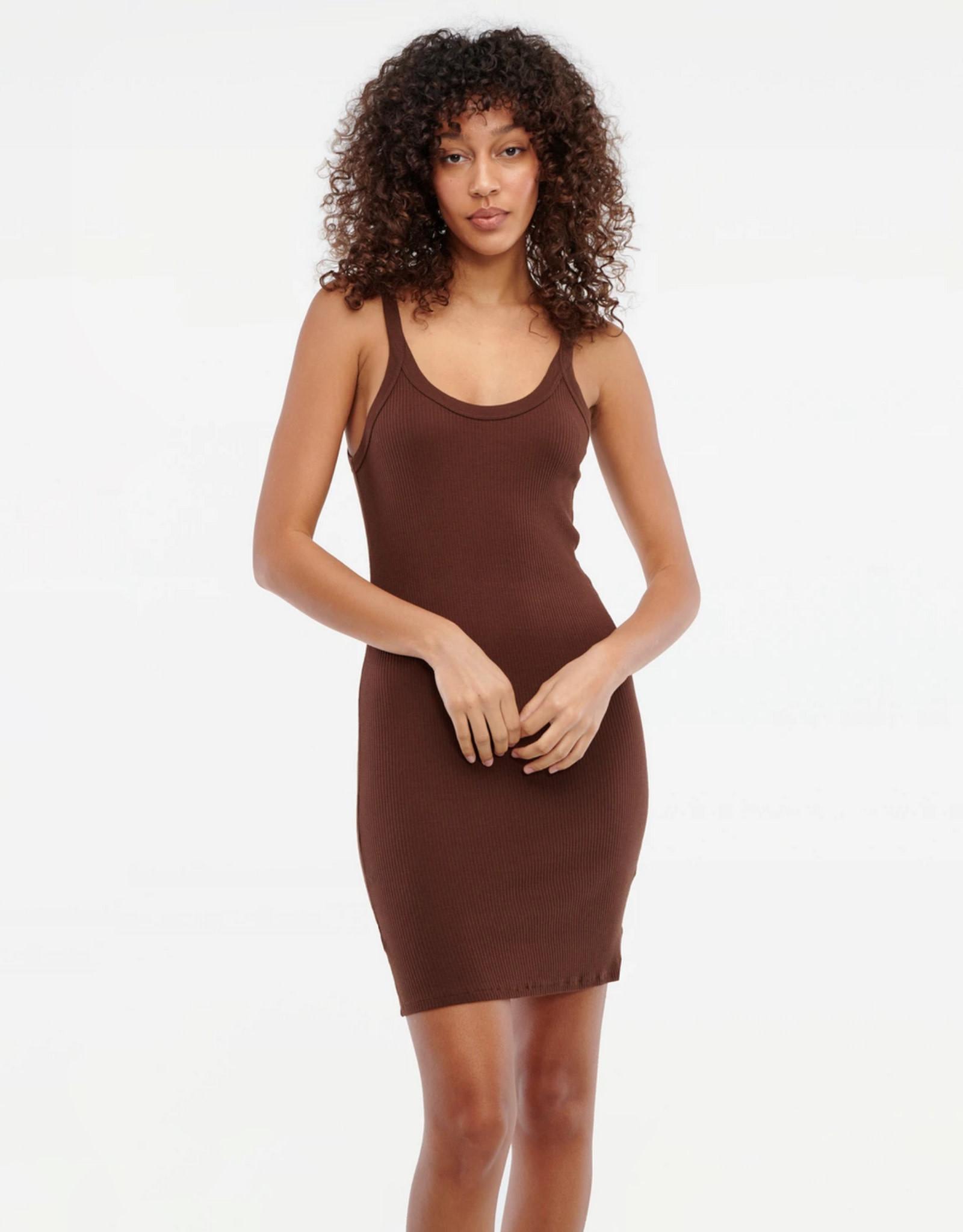 LACAUSA Maya Ribbed Slip Dress
