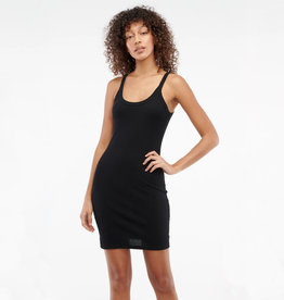 LACAUSA Maya Ribbed Slip Dress